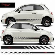 fiat 500 sport side stripes graphics decals stickers