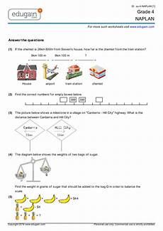 year 4 naplan printable worksheets online practice online tests and problems edugain australia