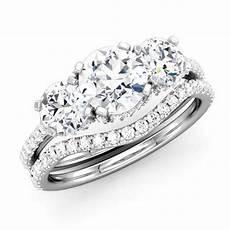 three stone diamond bridal three stone