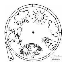 Uhr Malvorlagen Word Wetteruhr Basteln Wetter Uhr Wetter Kindergarten