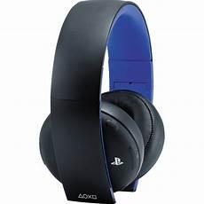 sony wireless headset sony playstation gold wireless headset black 10029 b h photo