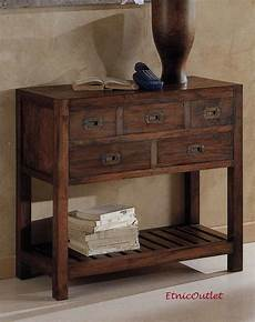 mobili consolle consolle etnica 5 cassetti teak etnico outlet mobili