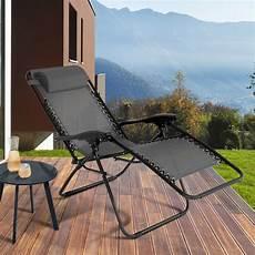 fauteuil relax de jardin gris anthracite x2
