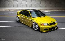wide e46 m3 widebody yellow bmw e46 m3 bagged and modified