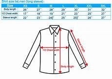 Mens Business Shirt Size Chart Shirt Size Chart Singapore