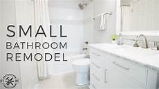 Bathroom Ideas For Remodeling Diy Small Bathroom Remodel Bath Renovation Project