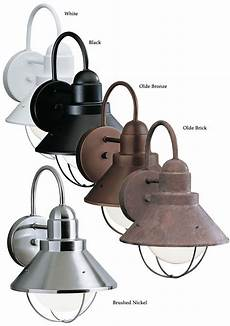 kichler 9022 seaside 12 inch tall wall mounted outdoor nautical sconce fixtures house