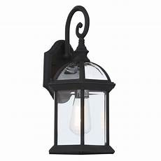 bel air lighting wall 1 light outdoor black coach lantern with clear glass 4181 bk the
