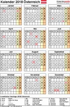 feiertage österreich 2018 kalender 2018 214 sterreich in excel zum ausdrucken