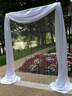 crystal curtain arch wedding ceremony decorations ideas pinterest