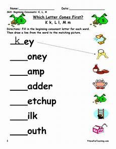 beginning sounds worksheet k l m have fun teaching