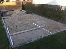 terrasse selber bauen fundament erstellen hausbau