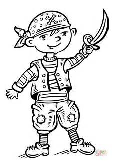 ausmalbild als pirat verkleidet ausmalbilder