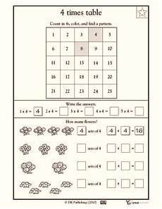 time table worksheets for grade 3 3474 4 times table worksheet for 2nd 4th grade lesson planet