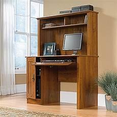 harvest mill computer desk w hutch oak d 404961 sauder woodworking afw