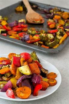 free rainbow roasted vegetables simple vegan blog