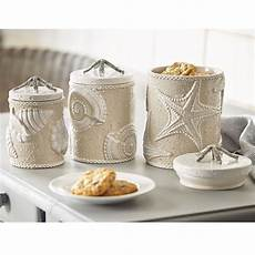 beach themed kitchen canisters sand nautilus canister set