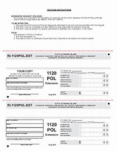 form 1120 pol extension political organization tax return extension