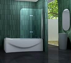 Duschfaltwand Für Badewanne - 120 x 140 badewannen faltwand 2 tlg duschwand