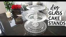 diy glass cake stands for wedding so easy cheap diy 3 tier cupcake stand youtube