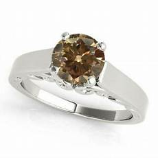0 75 3 4 carat brown chagne diamond solitaire wedding
