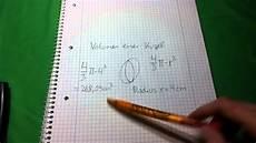 volumen einer kugel berechnen mathematik nachilfe