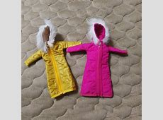Pretty Long Coat Cotton Dress for Barbie Clothes Toy
