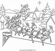 Ausmalbild Weihnachtsmann Mit Schlitten Weihnachtsmanner Schlitten 55 Gratis Malvorlage In