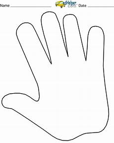 Handprint Outline Clipart Free Clipground