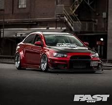 mitsubishi evo x tuned mitsubishi evo x fast car