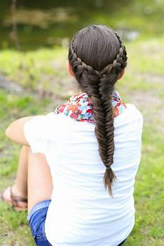 how to create a laced fishtail braid cute hairstyles