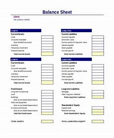 balance sheet 22 free word excel pdf documents