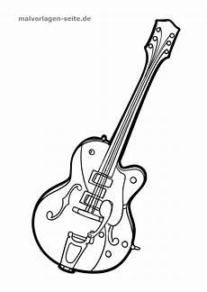 malvorlage gitarre ausmalbilder basteln ausmalen