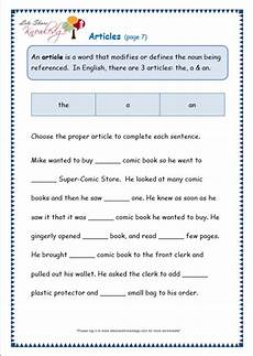 free articles worksheets for grade 3 grade 3 grammar topic 34 articles worksheets lets share knowledge