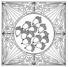 fall acorn mandala coloring page favecrafts