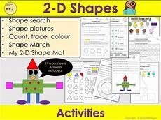 2d shapes worksheets reception 1254 2d shapes worksheets activities 2d shape mat count trace colour shape pictures reception