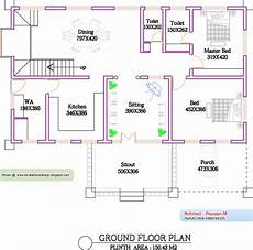 kerala house floor plans kerala home plan and elevation 1300 sq feet