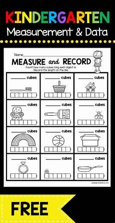 measurement addition worksheets 1368 measurement and data kindergarten math unit freebies kindergarten math worksheets
