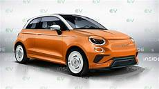 next fiat 500 electric car rendered to
