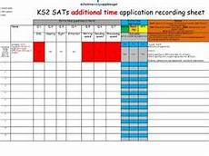 time recording worksheet 3183 year 6 additional time application recording sheet on one page teaching resources