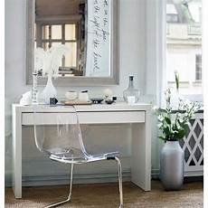 ikea malm dressing table vanity glass top desk white