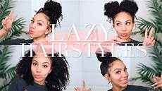 lazy hairstyles for curly hair quick easy the go