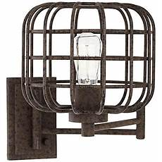 industrial cage plug in swing arm wall light swing arm