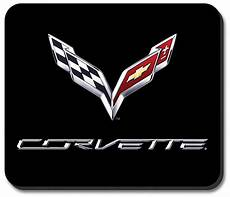 c7 corvette emblem black rubber base computer mouse pad