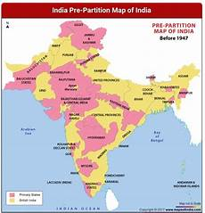 10 different states of india before 1947 what were the two types of states in india