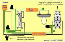 adding a new receptacle outlet at a switch for the home electrical wiring diagram outlet