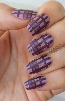 ehmkay nails plaid nail art with zoya naturel collection