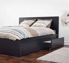 ikea malm black brown size bed frame furniture