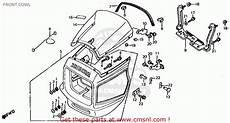 honda cb700sc nighthawk s 1986 g usa front cowl schematic partsfiche