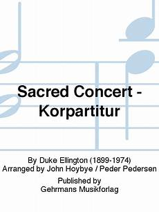sacred concert korpartitur sheet music by duke ellington sheet music plus